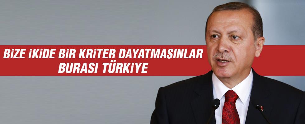 Cumhurbaşkanı Erdoğan'dan rest