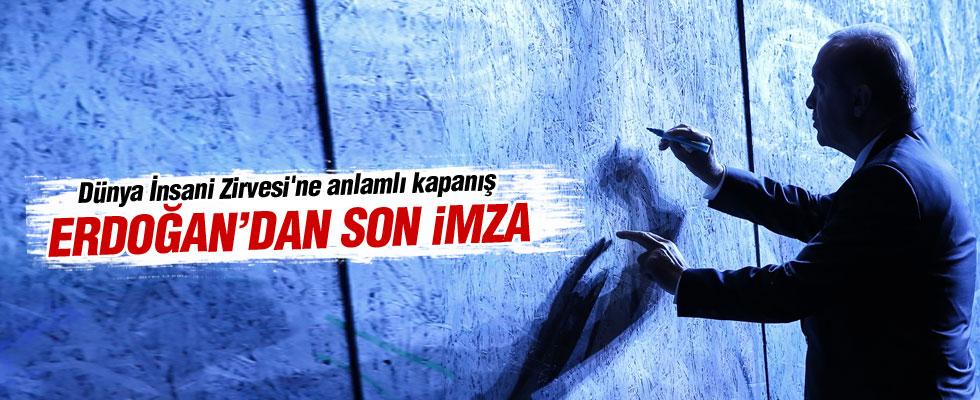 Dünya İnsani Zirvesi'nde Erdoğan'dan anlamlı kapanış