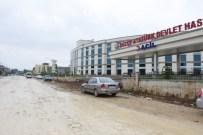 Düzce Belediyesi Yeni Hastanenin Çevre Yollarını Yapıyor
