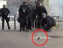 GAZ BOMBASI - Fransız polisi video sildirdi!