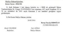 CENGİZ YAVİLİOĞLU - Yavilioğlu, Yeniden Maliye Bakan Yardımcılığına Atandı