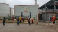 Biyogaz Fabrikasında Çıkan Yangın Korkuttu