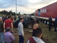 Otomobil Ciple Çarpıştı Açıklaması 1 Yaralı