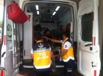 KARAALI - Otomobilin Çarptığı Motosiklet Sürücüsü Ağır Yaralandı