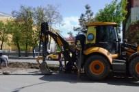 TAHİR ELÇİ - Ağrı Belediyesi'nden Peyzaj Ve Refüj Çalışması