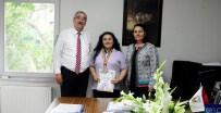 EMIN HALEBAK - Avrupa 2'Ncisi Ecem Tiren'den Başkan Halebak'a Ziyaret