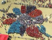 GUINNESS REKORLAR KITABı - Çiçek olan 10 bin çocuktan 'Guinness rekoru'
