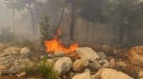 YANGIN HELİKOPTERİ - Çay demlerken 100 dönüm ormanı yaktı