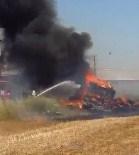 ÇOLAKLı - Manavgat'ta Saman Yüklü Kamyon Yandı