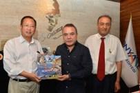 SAĞLIK SEKTÖRÜ - Başkan Böcek, Çin'li Heyet İle Turizmi Konuştu