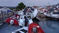 ASIRLIK ÇINAR - Fırtına Limandaki Tekneleri Vurdu