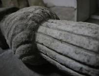 ŞEHİR MÜZESİ - Manastır'da muhafaza edilen Osmanlı mezar taşı