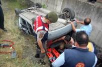 Taşköprü'de Duvara Çarpan Araç Takla Attı Açıklaması 1 Yaralı