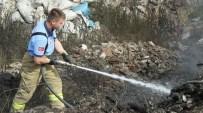 Burhaniye'de Çöplük Yangını Korkuttu