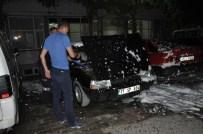 Hastane Otoparkındaki Araç Yangını Korkuttu