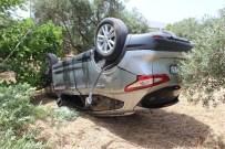 DAVUTLAR - Aydın'da Trafik Kazası, Emekli Çift Kazayı Hafif Atlattı