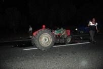 ŞERİT İHLALİ - Tır Traktöre Çarptı Açıklaması 5 Yaralı