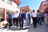 DRENAJ KANALI - Gürkan, Şire Pazarı Esnafı İle Bir Araya Geldi