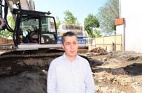 BEKLEME ODASı - İl Özel İdare Genel Sekreteri Aksoy, Öğretmenevi İnşaatında İncelemelerde Bulundu