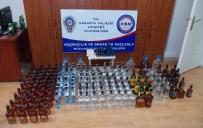BANDROL - Sakarya'da 161 Şişe Kaçak İçki Ele Geçirildi