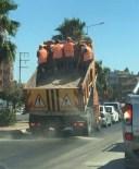 Milas'ta İşçiler Tehlikeye Aldırmadı