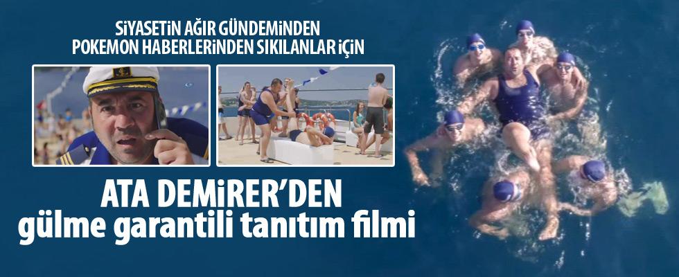 Kıtalararası yarışa Ata Demirer'li tanıtım