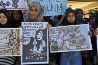 TURAN ARSLAN - Sivas'ta Okulların Birleştirilmesi Kararı Protesto Edildi