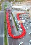 MUSTAFA ELDIVAN - 150 Metrelik Türk Bayrağı İle Demokrasi Yürüyüşü Yapıldı