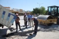 BELEDIYE İŞ - Dinar'da Sıcak Asfalt Serim Ve Yol Yama Çalışmaları Devam Ediyor