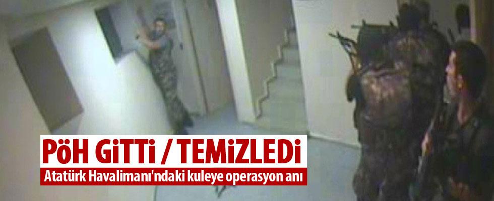 Atatürk Havalimanı kulesinde polisin darbecilere operasyonu kamerada