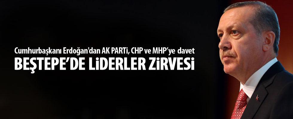 Cumhurbaşkanı Erdoğan'dan 3 parti başkanına davet