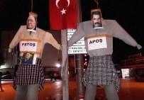 Demokrasi Nöbetinde Gülen Ve Öcalan'ın Maketlerini Astılar