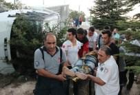 Elazığ'da Devrilen Kamyonette Sıkışan Sürücü Kurtarıldı