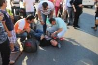 Kaza Yapan Yaralıyı Çarptığı Otomobilin Sürücüsü Teselli Etti