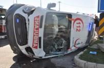 Kaza Yaparak Devrilen Ambulanstan 'Kör Talih' Çıktı