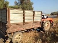 Milas'ta Motosiklet Traktörle Çarpıştı Açıklaması 1 Yaralı