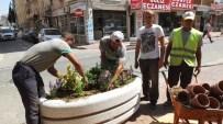 Burhaniye'de Caddelere Çiçek Güzelliği