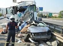 MUSTAFA ASLAN - TIR'lar Otomobili Presledi Açıklaması 1 Ölü, 7 Yaralı