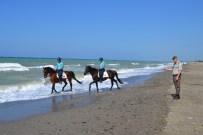 ŞENYURT - Alaçam Sahilinde Atlı Jandarma Görevde