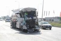 MOTORIN - Motorin Yüklü Tanker Kamyona Çarptı Açıklaması 1 Yaralı
