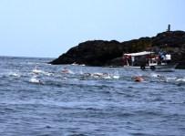 YÜZME YARIŞI - Türkiye'de Karadan Karaya Yapılan İlk Yüzme Yarışı Giresun'da Düzenlendi