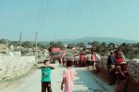 Milas'ta Maden Kamyonlarına Protesto