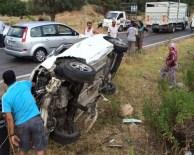 Milas'ta Otomobil Takla Attı; 2 Yaralı