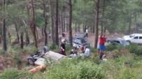 Piknikten Dönen Aile Otomobille Uçurumdan Yuvarlandı Açıklaması 6 Yaralı