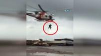 Selde Mahsur Kalan Vatandaşlar Helikopterle Kurtarıldı
