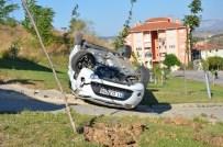 ALKOL MUAYENESİ - Takla Atan Otomobilden Burnu Kanamadan Kurtuldu