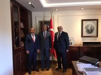 VEYSİ KAYNAK - Kilis Belediye Başkanı Hasan Kara,  Başbakan Yardımcısı Veysi Kaynak'ı Ziyaret Etti