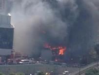 BİNA YANGINI - İstanbul'da büyük yangın