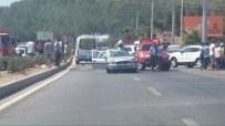 Milas'ta Araç İkiye Bölündü Açıklaması 1 Ölü, 4 Yaralı