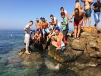 İZMIR VALISI - Plajda ortaya çıkan davetsiz misafir şaşırttı